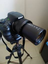 Câmera Sony HX300 super zoom com tripé