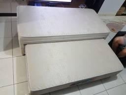 Cama de solteiro com auxiliar (colchão de alta qualidade)