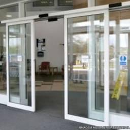 KIT Porta Automatica Vidro e Aluminio com sensor de movimento, senha ou Biometria