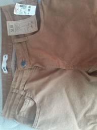 Calça jeans slim masculina, nova, n° 38