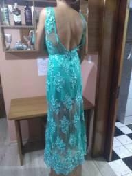 Vestido verde Tiffany novo lindooooo todo em renda