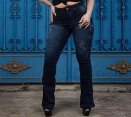 Calça jeans escura fashion 40/42
