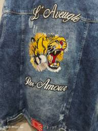 Jaqueta Jeans Customizada