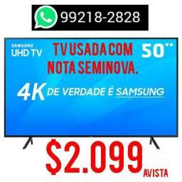 "TV 50"" 4K SEMI NOVA  COM NOTA"