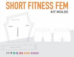 Molde Digital Short Fitness Fem