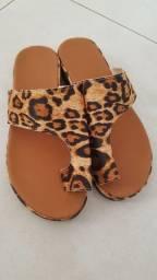 Sandália leopardo 39