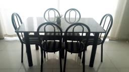 Mesa de Granito 6 cadeiras