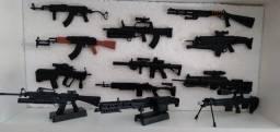 Miniatura Armas Em Escala 1/6 (hot Toy Ou Falcom) 12 Modelos