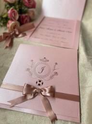 Convite Luxo Casamento ou 15 Anos