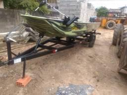Vendo completo barco de alumínio uberfort puma super 600 Jp