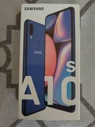 Samsung A 10 s novo na caixa.