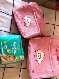 Título do anúncio: Bolsa maternidade nova nunca usada e bomba de leite