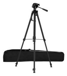 Tripé de Alumínio Profissional 1.5M c/ Suporte para Câmera Fotográfica e Celular