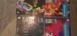Livros didaticos de quimica, fisica e artes