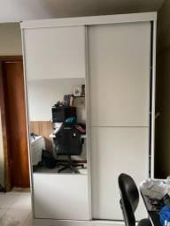 Guarda Roupa com Espelho 2 Portas de Correr 3 Gavetas