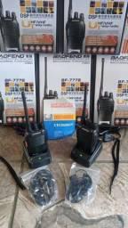 Título do anúncio:  Kit 2 Radio Comunicador 777s Profissional Ht Uhf 16 Canais