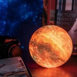 Umidificador Luminária 3D Nebulosa Galáxia Universo com Controle