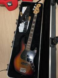 Fender American Deluxe Jazz Bass Sunburst (ativo) Made in USA.