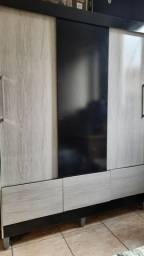 Guarda-roupa solteiro 3 portas e 3 gavetas