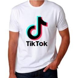 Título do anúncio: Camisa Tik Tok Unissex Cor Branca Adulto e Infantil