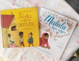 Livro Flávia e o Bolo de Chocolate + Malala e seu lápis mágico
