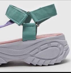 Sandália papelte plataforma