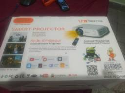 Projetor LED 4K 120 polegadas 800 troco também