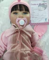 Título do anúncio: Bebê Reborn Maddie Pronta Entrega corpinho todo em vinil silicone macio