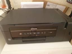 Impressora Epson L395 colorida em perfeito estado