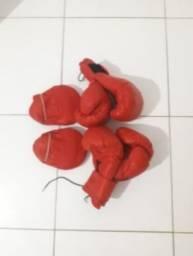 kit 3 peças: 2 pares de luvas de boxe + 1 escolinha
