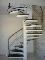 Escadas pré moldadas de concreto (caracol e semi caracol)
