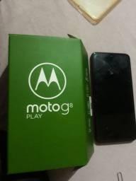 Black Friday pra vender hoje . Moto g8 PLAY novíssimo completo .