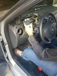 Instalação e manutenção e retirada de rastreador