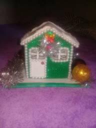 Cazinha natalina para decoração.