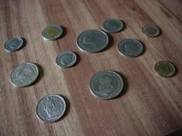 Lote moedas antigas estrangeiras