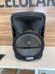 Caixa de som Nova com Microfone
