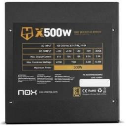 Fonte Nox Hummer X 500W, 80 Plus Bronze (Produto novo com nota fiscal)