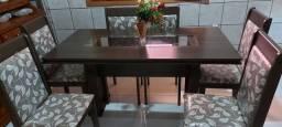 Jogo Mesa de 06 cadeiras e espelho