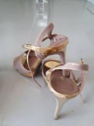 Sandália  Nude/Dourado