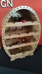Adega de vinho mdf madeirado para 14 garrafas