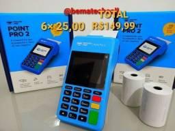 Maquineta POINT PRO 2 (LACRADA) mercadopago, Wi-Fi e Chip