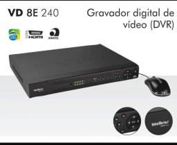 Dvr Intelbras para 8 câmeras de segurança HD de 1TB