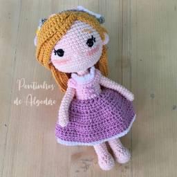 Boneca de crochê - Rapunzel