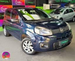 Título do anúncio: Fiat Uno Attractive - 1.0 GNV Manual - Azul - 2016