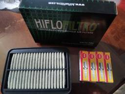 Kit Filtro Ar e velas  GSX650F /Bandit 650