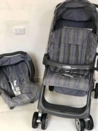 Título do anúncio: Carrinho + bebê conforto burigotto rio plus reversível e reclinável em 3 posições
