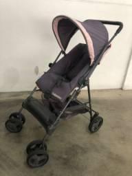 Carrinho bebê rosa/cinza galzerano. Novo e Lindo!!!