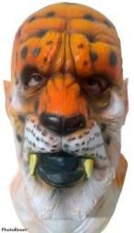 Máscara em Látex para Carnaval / Teatro - Tigre + òculos do Meme - Nova, sem qualquer uso!