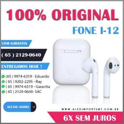 Branco Fone Ouvido I12 Original Tws Bluetooth 5.0 Foni i-12