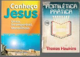 olx375 2 livros - A Omilética Prática - Conheça Jesus Único Imcomparável Maravilhoso